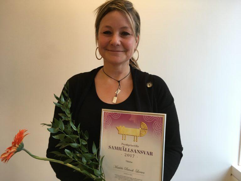 Kategori Samhällsansvar - Matilda Brinck Larsen grundare av Agape