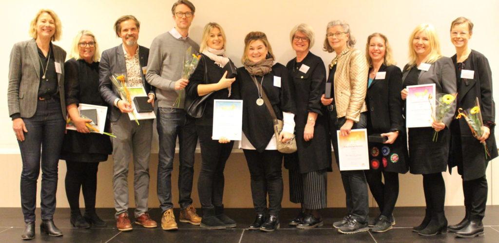Vinnarna av Psynkpriset 2019 står uppradade bredvid varandra