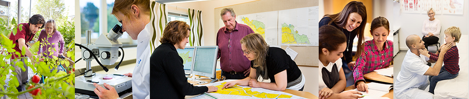 Bilden är ett foto på medarbetare från olika verksamheter i kommuner och regioner